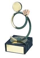 Trofeo cartas latón