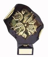 Trofeo cartas manos jugadores