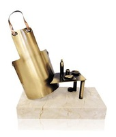 Trofeo cocina mandil y mesa en metal