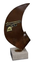 Trofeo con Pistola o Arma corta Oriana