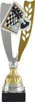 Trofeo con aplique deportivo. Modelo albino
