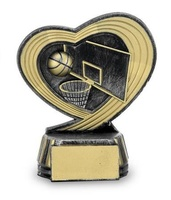 Trofeo con corazon baloncesto