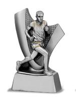 Trofeo corredor atletismo plata