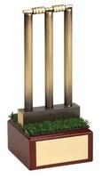 Trofeo críquet stumps y bails