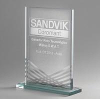 Trofeo cristal optico optopusi calidad