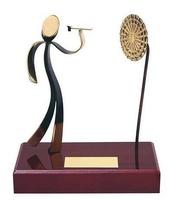 Trofeo dardos peana madera