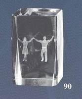 Trofeo de Baile Regional Lozoya, cubo de cristal