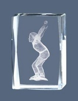 Trofeo de Bolos Cubo de Cristal Lozoya