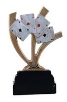 Trofeo  de Cartas de Poker en resina.