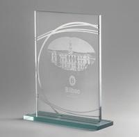 Trofeo de Cristal Lapidado modelo Fresnillo
