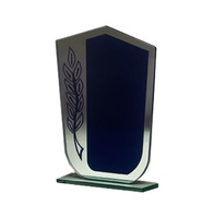 Trofeo de Cristal Modelo Ola Personalizable