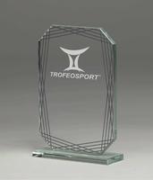 Trofeo de Cristal mate modelo Canelas