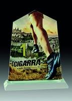 Trofeo de Cristal personalizable a todo color con base de cristal