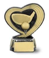 Trofeo de Golf con forma de corazón