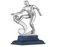 Trofeo de Resina con Futbolista modelo Chute