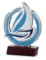 Trofeo de Vela estilo modernista en plateado modelo Etla