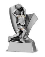 Trofeo de baloncesto plata