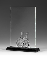 Trofeo de cristal optico para padel melendis
