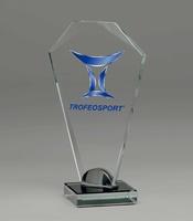 Trofeo de cristal personalizable lapidado Maddison