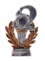 Trofeo de resina, segunda posición porta disco deportivo