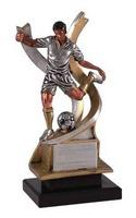 Trofeo deporte Futbol en resina, peana negra