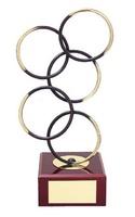 Trofeo diseño aros