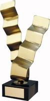 Trofeo diseño forma escaleras