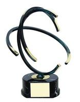 Trofeo diseño negro y dorado