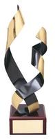 Trofeo diseño tiras onduladas