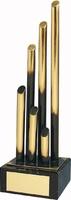 Trofeo diseño tubos distintos tamaños