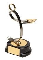 Trofeo dominó jugador dorado