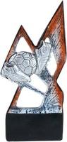 Trofeo economico plata y rojo. Modelo etla