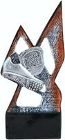 Trofeo economico plata y rojo. Modelo magón