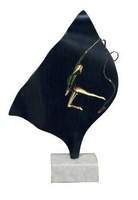 Trofeo en Latón para Gimnasia Ritmica con cinta