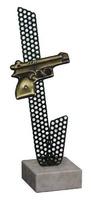 Trofeo en Laton Tiro con Pistola Agata