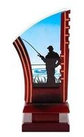 Trofeo en metacrilato y resina de Pesca.