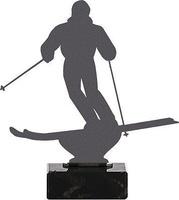 Trofeo en metal para esqui modelo coppo