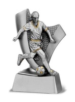 Trofeo en plata futbolista
