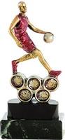 Trofeo en resina balón de Baloncesto.