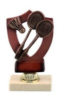 Trofeo en resina de Badmiton.