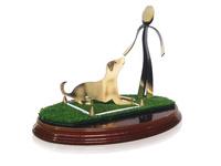Trofeo entrenamiento canino de laton