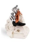 Trofeo escultura rugosa efecto yeso modelo Oro
