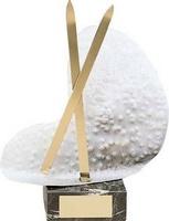 Trofeo esquí nieve y par esquí