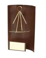 Trofeo esquí rectangular