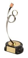 Trofeo fútbol árbitro dorado y plateado