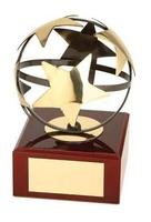Trofeo fútbol balón estrella
