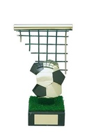 Trofeo fútbol balón y portería