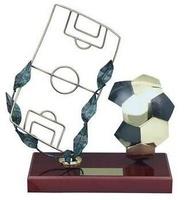 Trofeo fútbol campo fútbol y balón