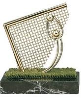 Trofeo fútbol portero portería dorada