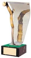 Trofeo fútbol portero portería y portero